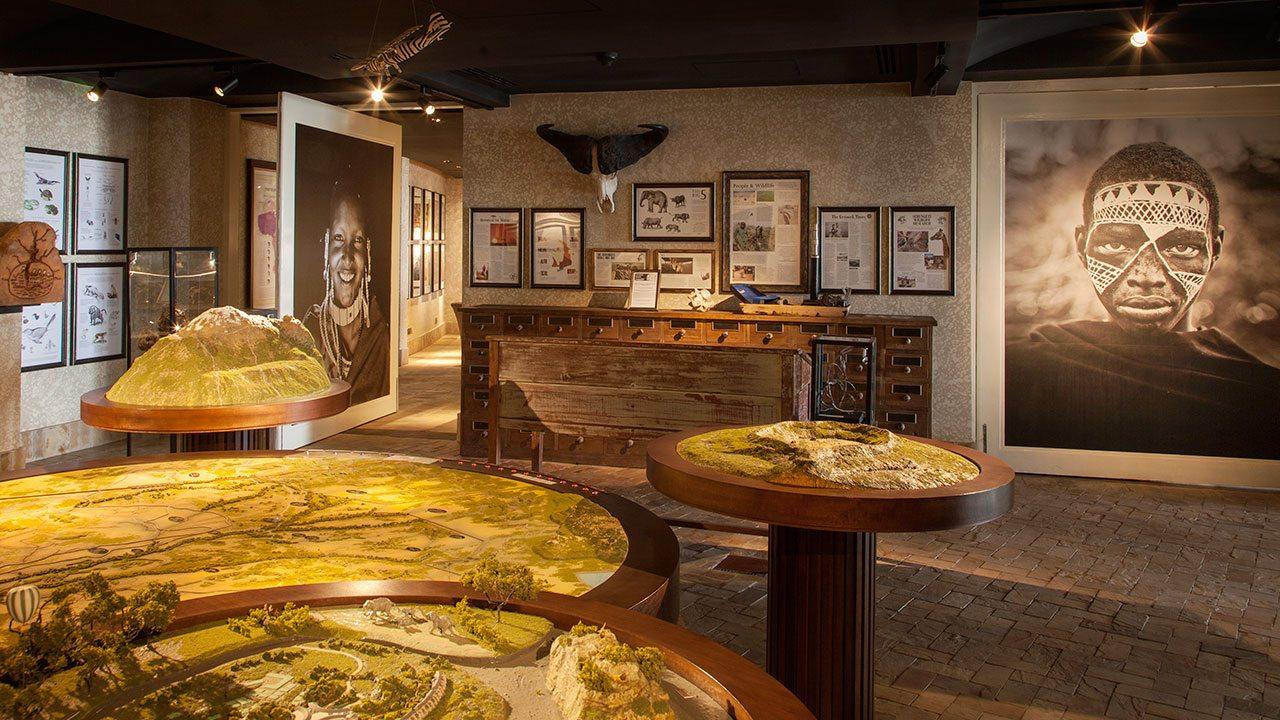 Displays at Four Seasons Safari Lodge, Serengeti Discovery Center