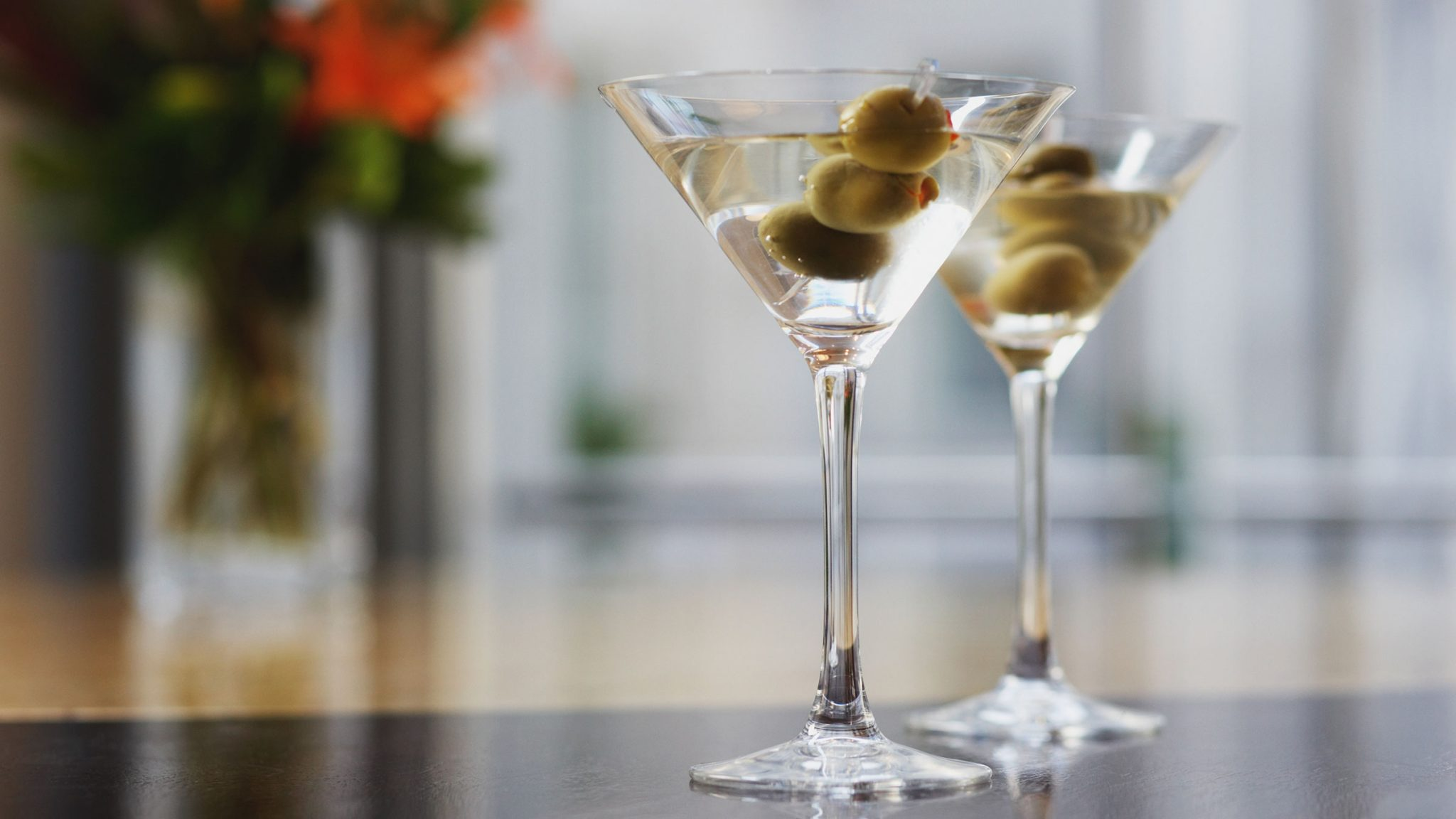 Classic martinis served at Le Bar at Four Seasons Hotel George V, Paris