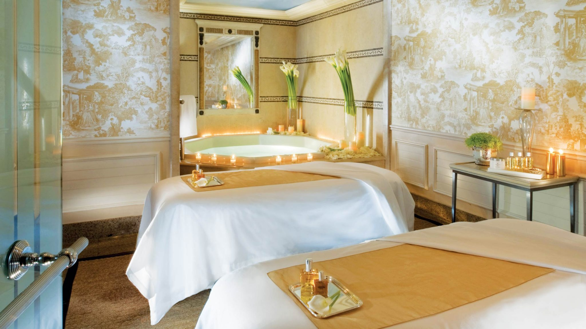 Spa treatment rooms at Four Seasons Hotel George V—Paris, France