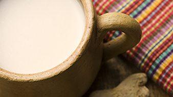 A warm glass of milk