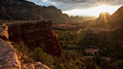 Explore the Southwest's vivid desert landscape by air, bike and foot