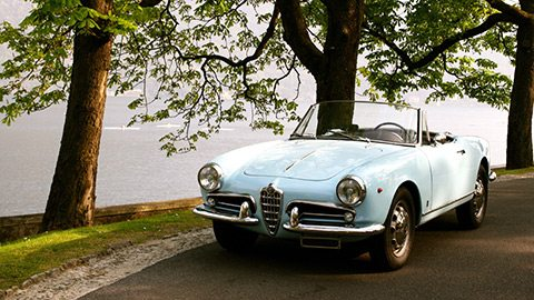 Climb behind the wheel of a rare classic car for a cruise around Lake Como