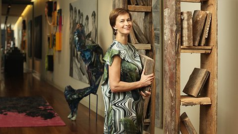 Dine with one of St Petersburg's leading art enthusiasts inside the gallery she calls home