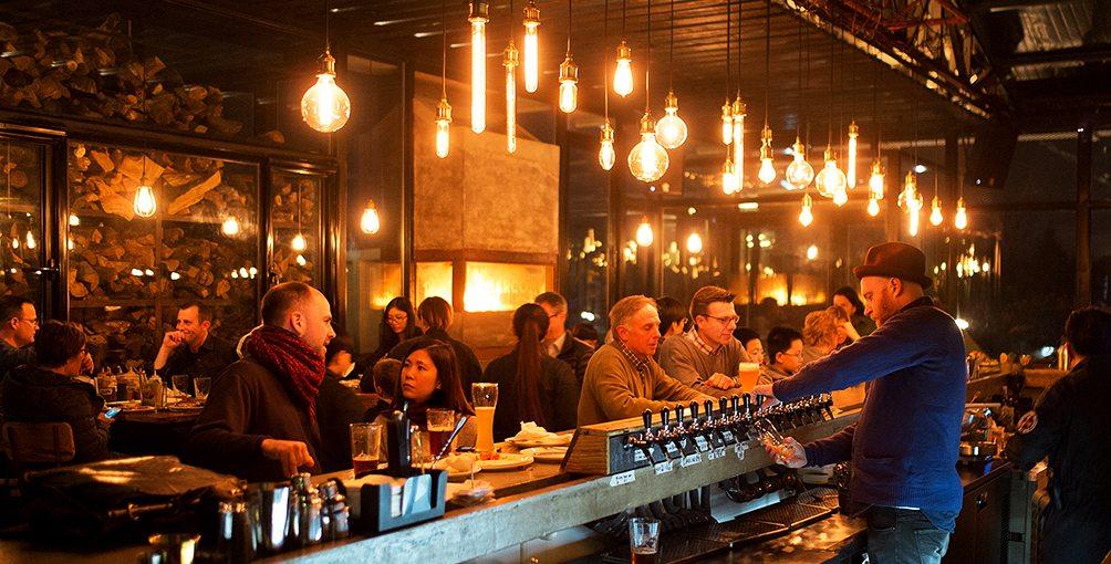 Charcoal brewpub in Beijing