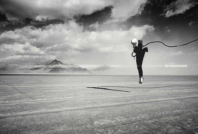 Cole Rise - Kate Winsy on the Salt Flats