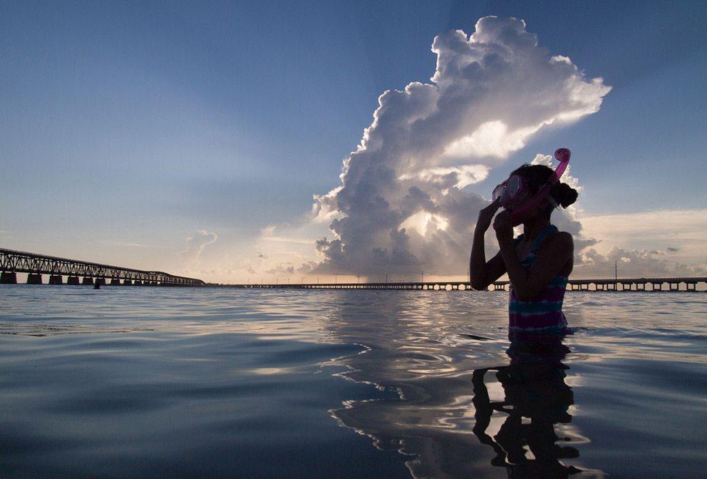Child snorkeling in Florida Keys, Florida