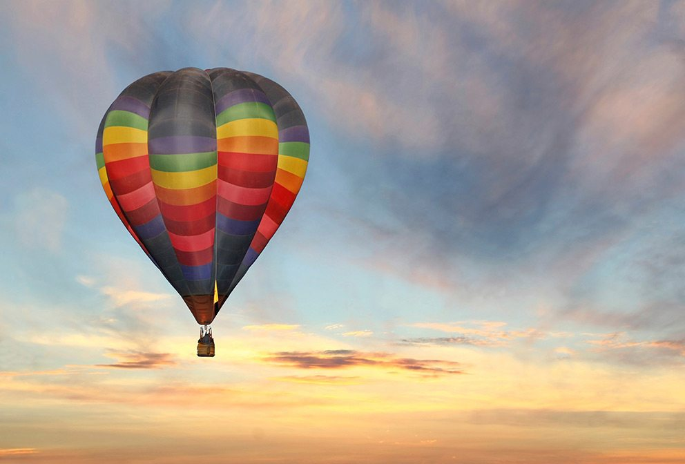 best vacation spots for couples - hot air balloon