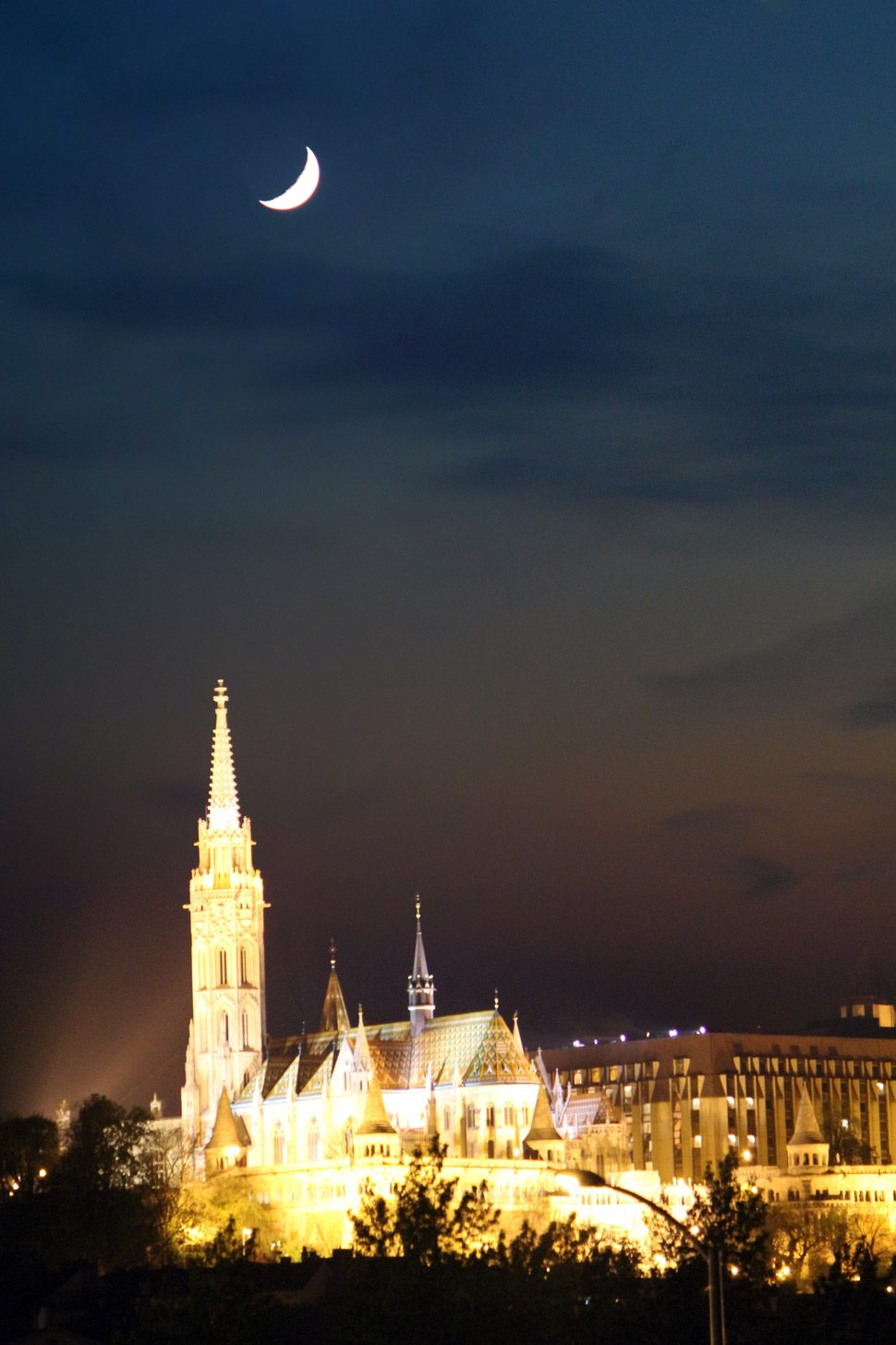 Nighttime view in Budapest