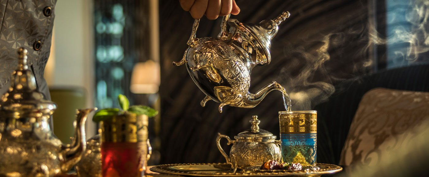 Arabian tea ceremony in Dubai