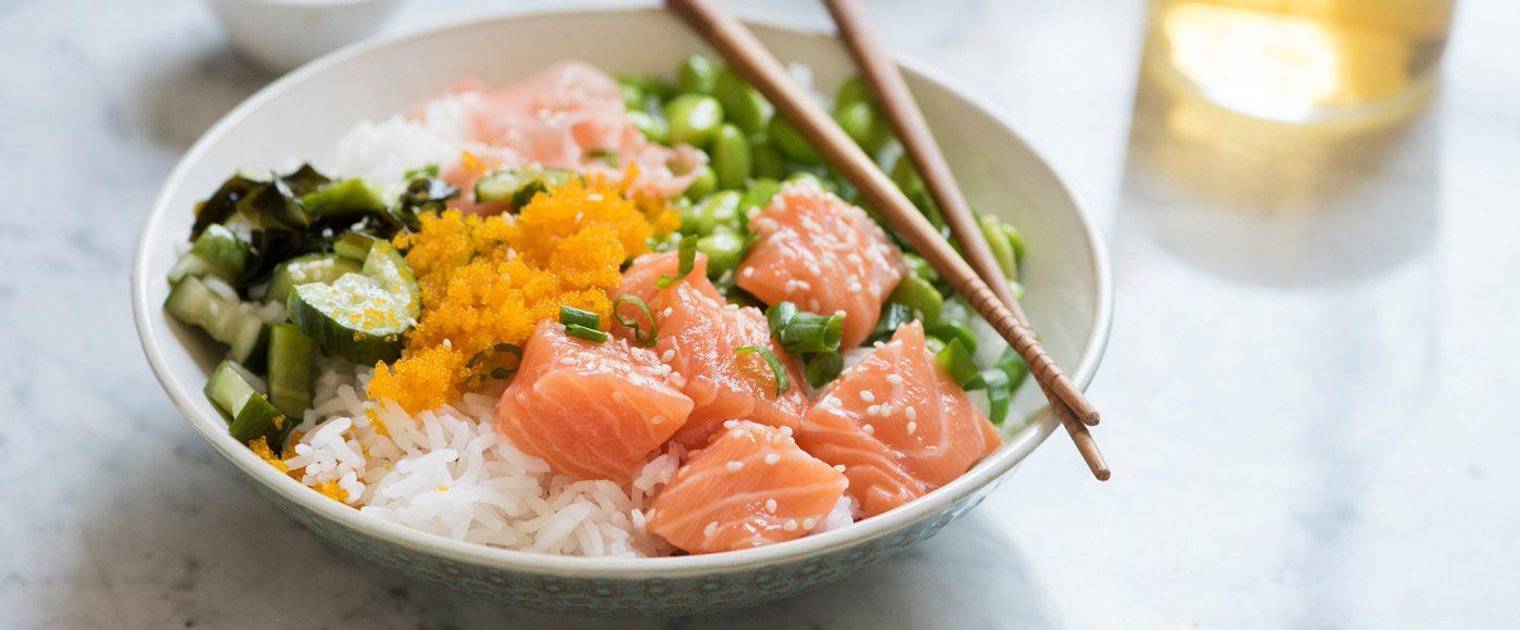 Poke fish dish