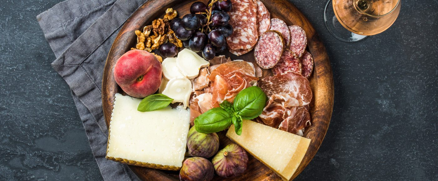 Tuscan meats and cheeses