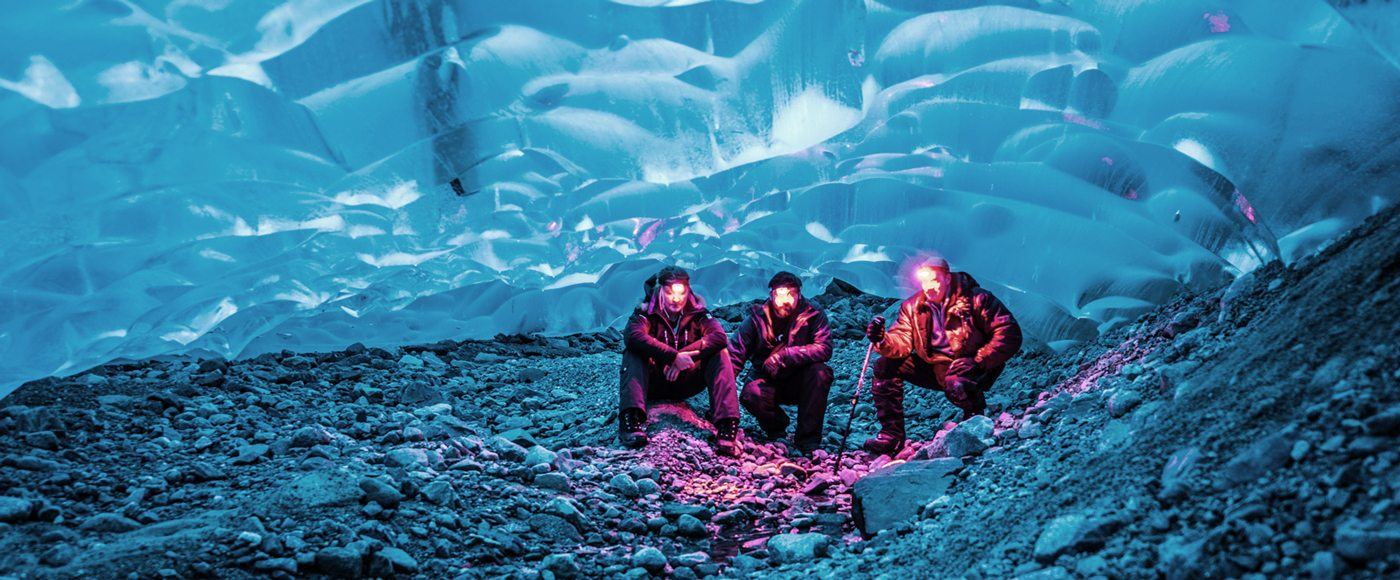 Whistler glacier ice cave