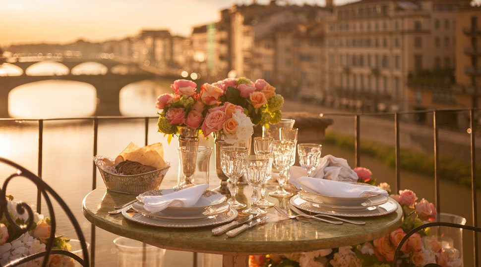 A private dinner on the Arno River