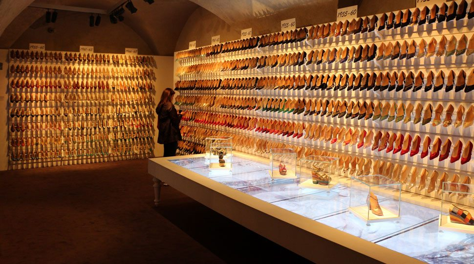 Shoe Exhibt at the Salvatore Ferragamo Museum in Florence