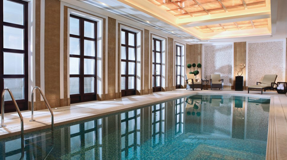 A private pool at Four Seasons Hangzhou Westlake