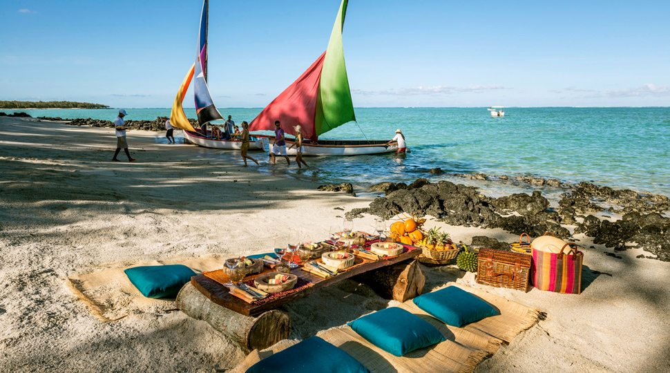 A private beach barbecue at the Four Seasons Mauritius