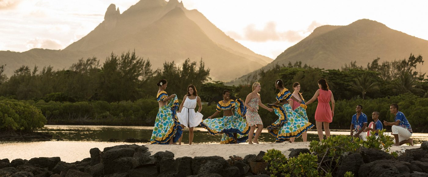 Sega dance performed with guests at the Four Seasons Mauritius