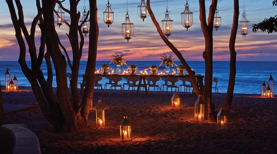 A private beach dinner at the Four Seasons Punta Mita