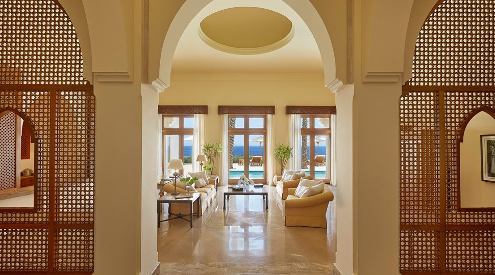 Four Seasons Sharm el Shiekh private chalet living room.