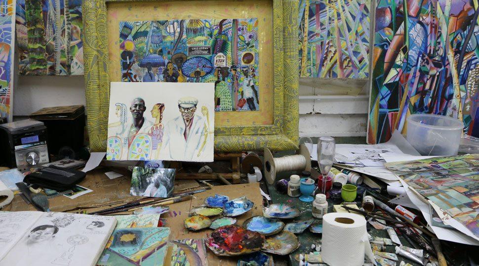 Studio of Michael Adams in the Seychelles