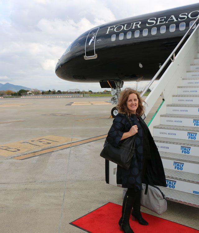 Boarding the Four Seasons Jet