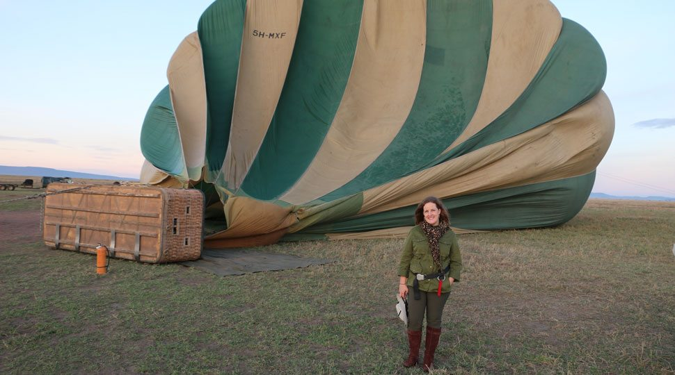 Hot air balloon in the Serengeti