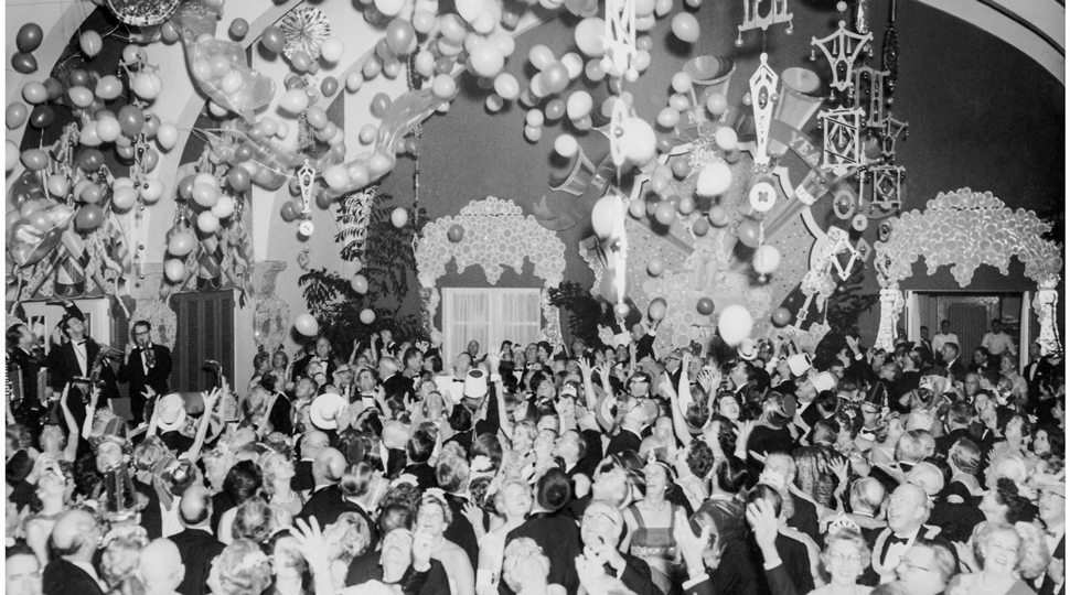 A historic New Years Eve photo at the Surf Club Resort, Miami beach