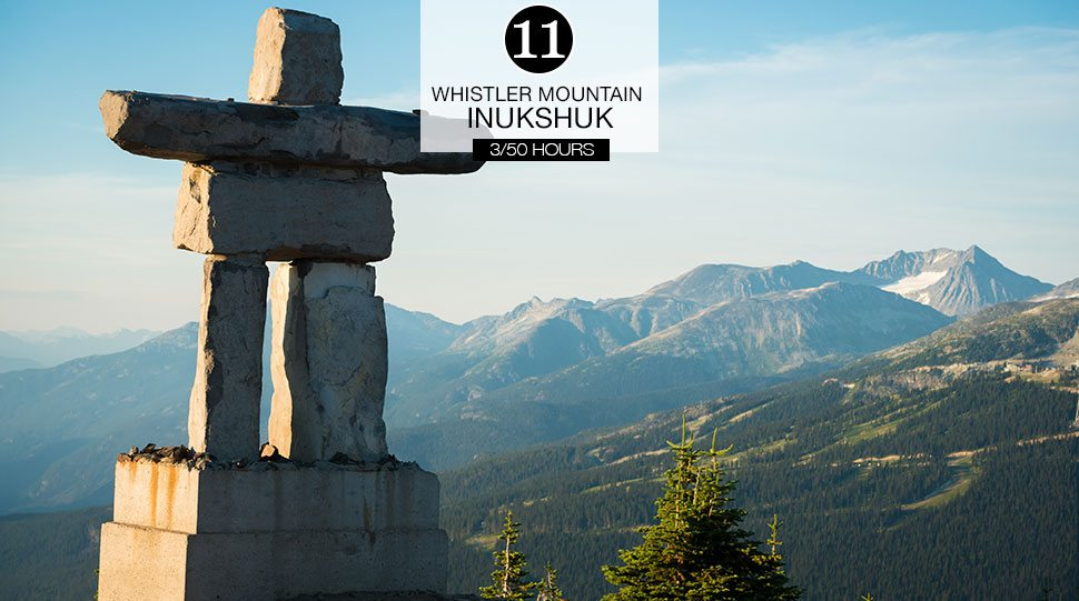 Inukshuk at the Roundhouse Lodge on Whistler Mountain