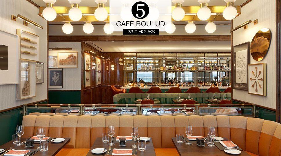 The interior of Four Seasons Toronto's Café Boulud.