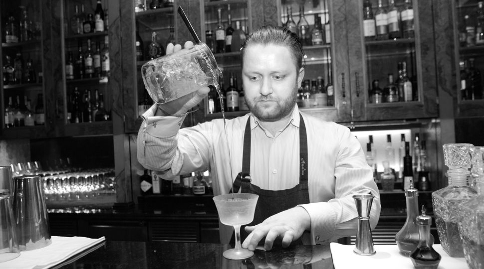 Four Seasons St. Petersburg's head bartender Andrey Amelin