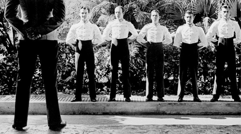 Staff at the historic Miami Surf Club circa 1950.