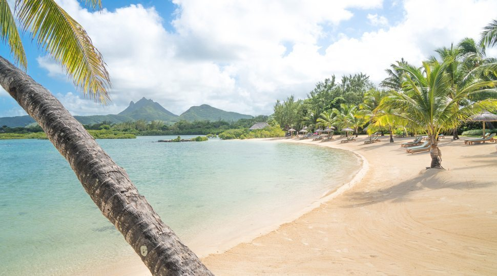 A private beach at Four Seasons Resort Mauritius at Anahita.