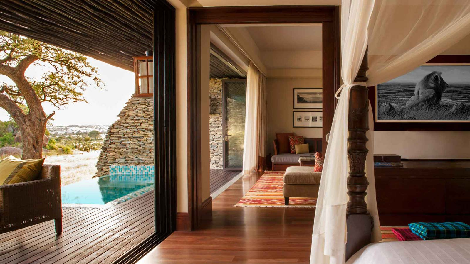 Four Seasons Serengeti Lodge guest room—Africa