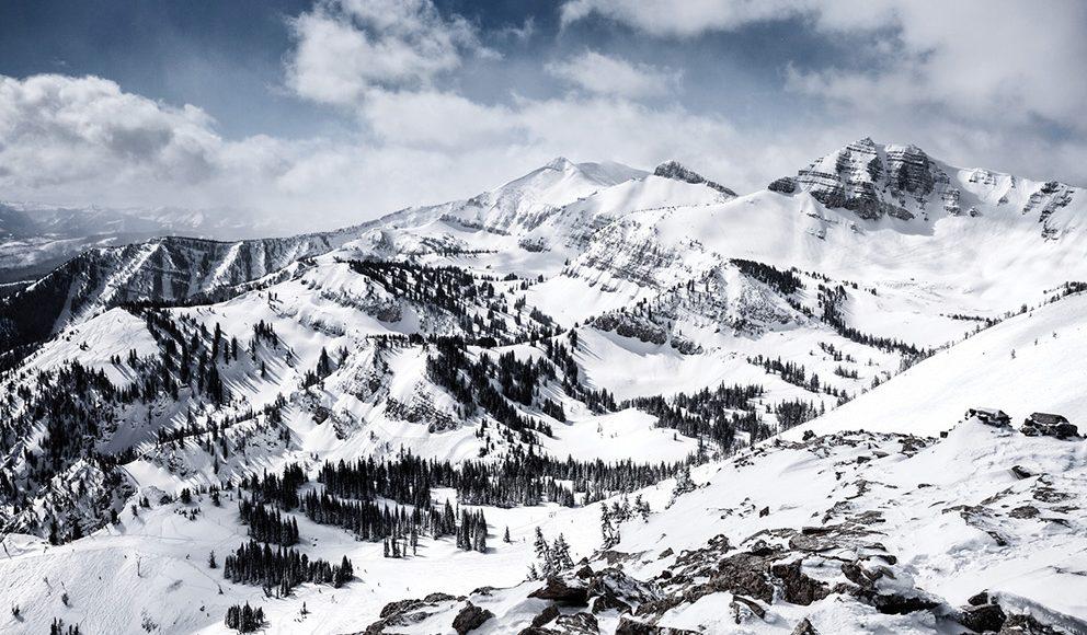 Snowy mountains at Jackson Hole