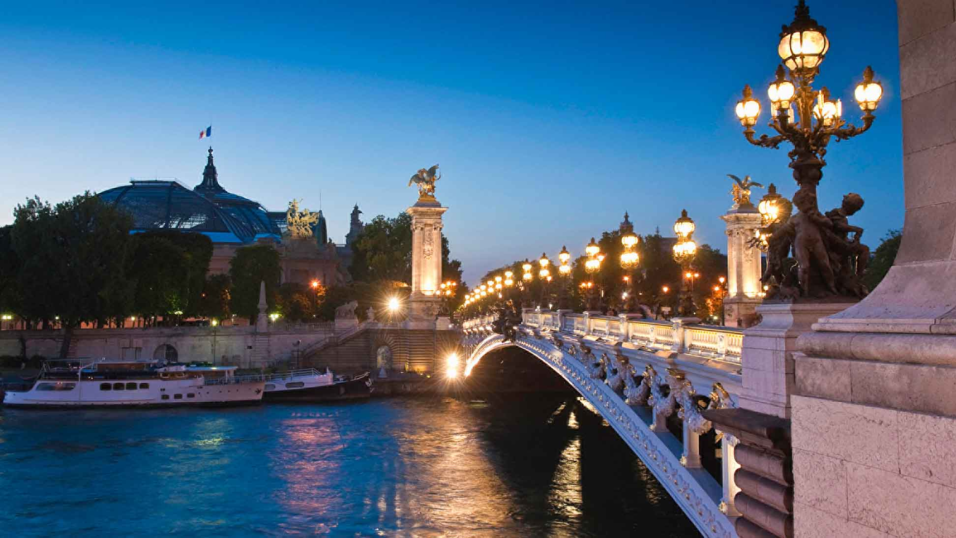 Bridge over the River Seine in Paris, France