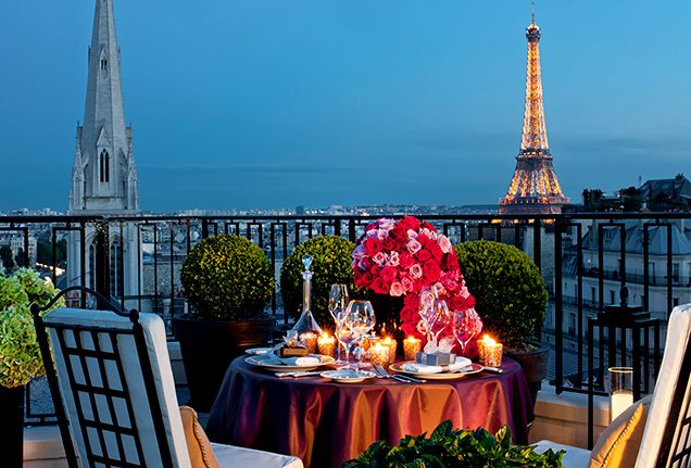 Penthouse Dining in Paris