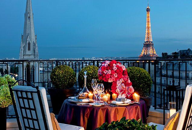 Penthouse Dining in Paris