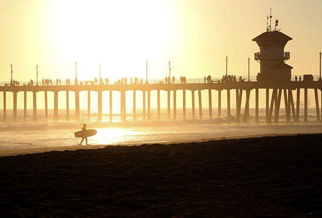 Best surfing spots: Huntington Beach pier, California