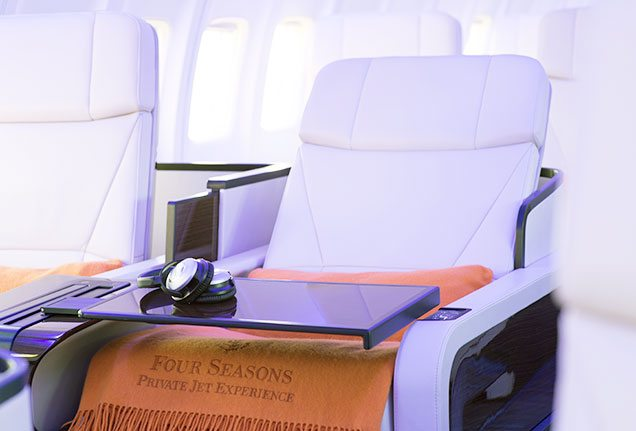 Four Seasons Jet flat-bed seats