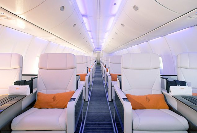 Four Seasons Private Jet interior