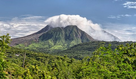See rare views of Montserrat's volcanic landscape from both land and sky