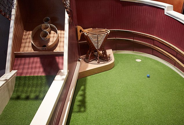 Indoor mini-golf at Urban Putt in San Francisco.