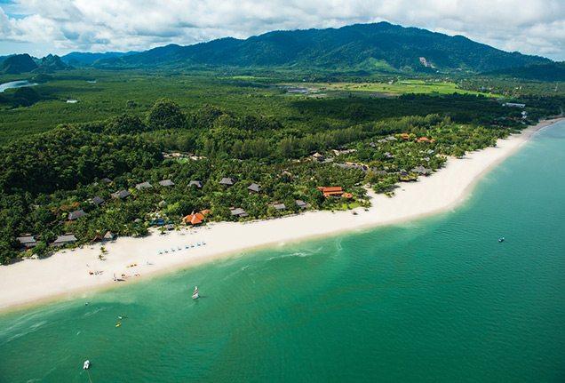 Aerial view of Four Seasons Resort Langkawi