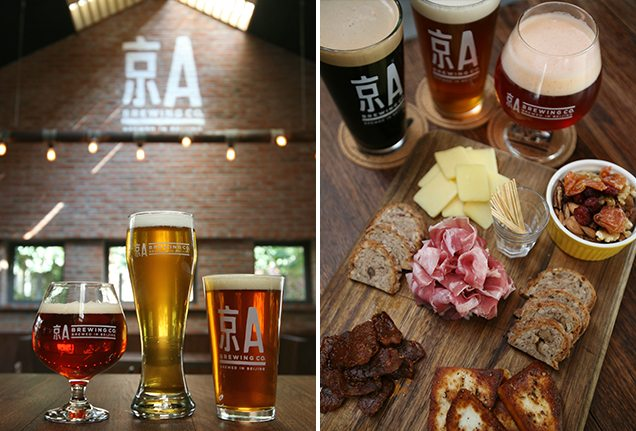 Beer and food at Jing-A Brewing Co. in Beijing