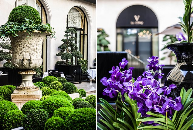 Four Seasons Paris Le Cinq Courtyard Details