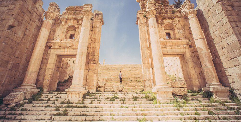 Stairwell in Jordan