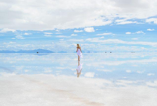 Lesley Murphy - Reflective Salt Flats, Bolivia
