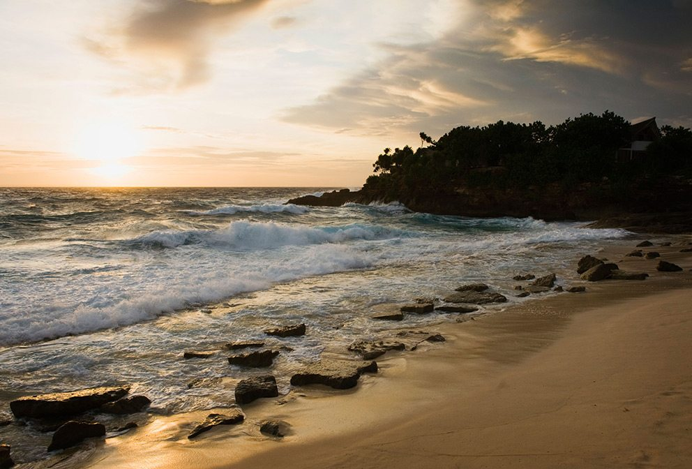 Sandy bay on Nusa Lembongan, Bali, Indonesia
