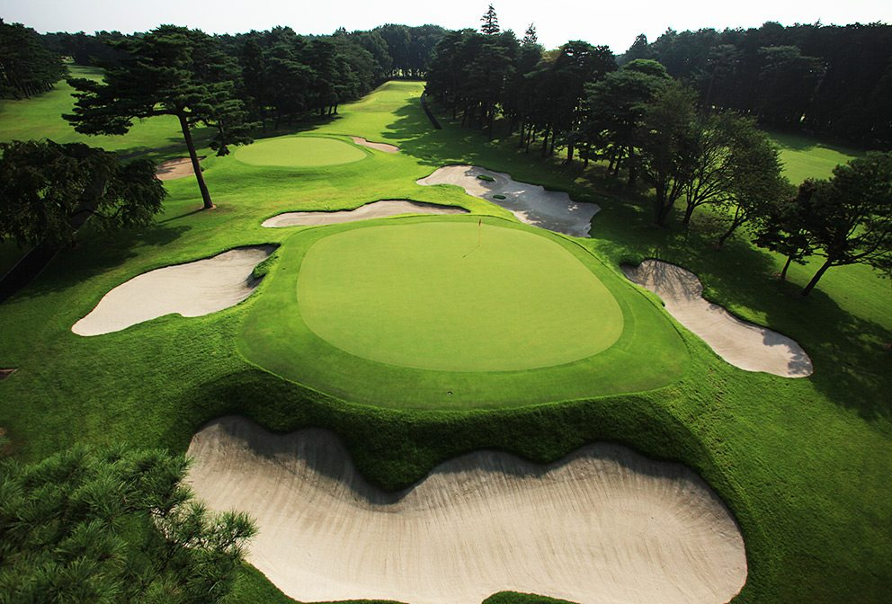 Tokyo Golf Club Aerial - Course & Bunkers - Hole #17