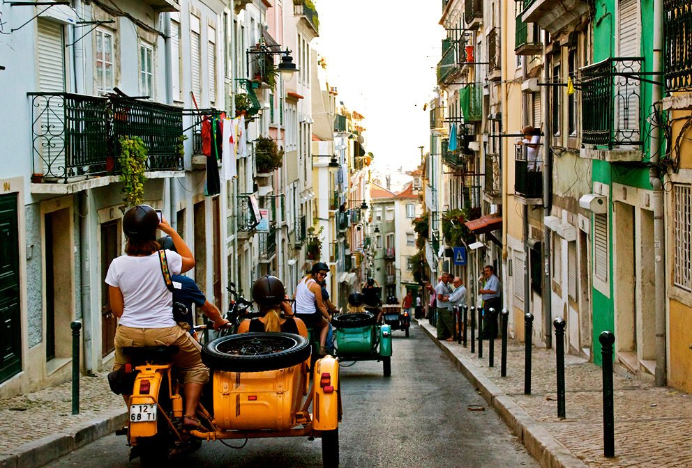 Lisbon Photography Vintage Motorcycle Sidecar Tour